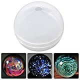 resin molds silicone - Funshowcase Ball Orb Sphere Paperweight Silicone Mold, for Polymer Clay, Crafting, Resin Epoxy, Jewelry Making