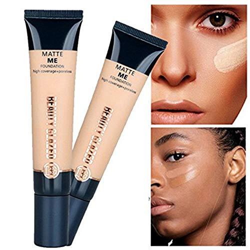 Beauty Glazed Liquid Foundation Under Eye Brightner Concealer Facial Blemish for Dark Circles Pores Coverage Cover Pores and Hyperpigmentation Makeup Primer Natural Moisturizing Highlighting