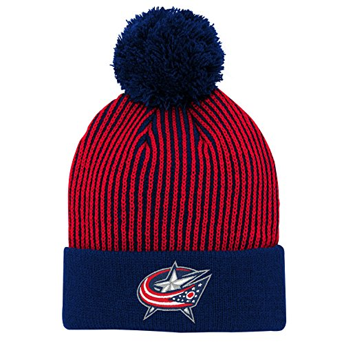 Outerstuff NHL NHL Columbus Blue Jackets Youth Boys Legacy Hidden Color Captain's Knit Hat, True Navy, Youth One Size (Legacy Jacket)