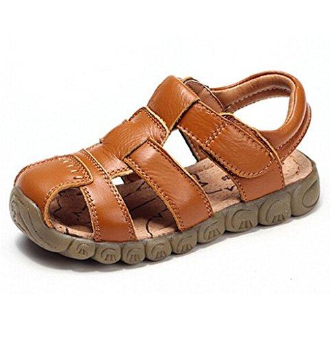 Baby Boy Fisherman Leather Closed-Toe Sandal Beach Flat Shoes (Toddler/Little Kid/Big Kid) (Sandal Toe Closed Fisherman)