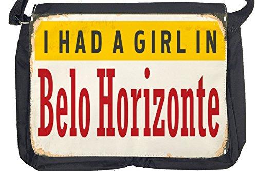 Borsa Tracolla Voglia Viaggiare Città Belo Horizonte Brasile Stampato