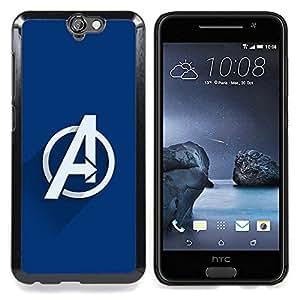 "Qstar Arte & diseño plástico duro Fundas Cover Cubre Hard Case Cover para HTC One A9 (Vengar Superheroes"")"