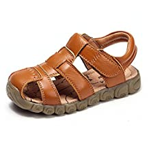 Baby Boy Fisherman Leather Closed-Toe Sandal Beach Flat Shoes (Toddler/Little Kid/Big Kid)