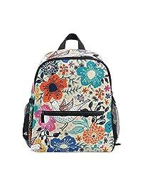 Mini Kids Backpack Daypack Vintage Floral Bird and Flower Colorful Pre-School  Kindergarten Toddler Bag 816c797cf0