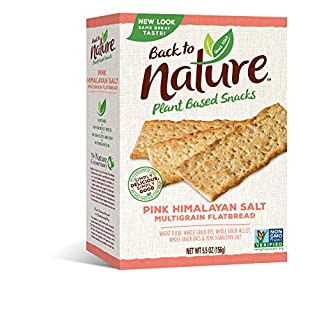Back to Nature Crackers, Non-GMO Pink Himalayan Multigrain Flatbread, 5.5 Ounce (Pack of 6)
