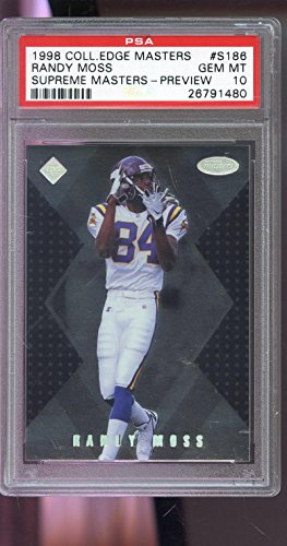 1998 Collectors Edge Supreme Master Preview Randy Moss Rookie Graded Card PSA 10