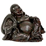 "Oriental Furniture 5"" Sitting Happy Buddha Statue"