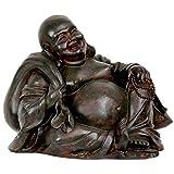 "Oriental Furniture 5"" Sitting Happy Buddha Statue"