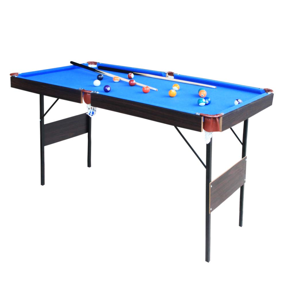IF 55'' Folding Billiard Set Mini Pool Table Portable Table Top Snooker Game with Accessory, Simple Assembly, Blue by IF