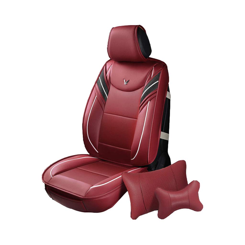 Universal Car Seat Cover Sets,Universal Compatible Waterproof Leather,Durable Auto Supplies Protect Covers for All Models (Color : BLACK) SZDPO