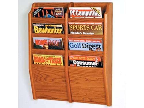 Cascade 8 Pocket Magazine Rack by Wooden Mallet