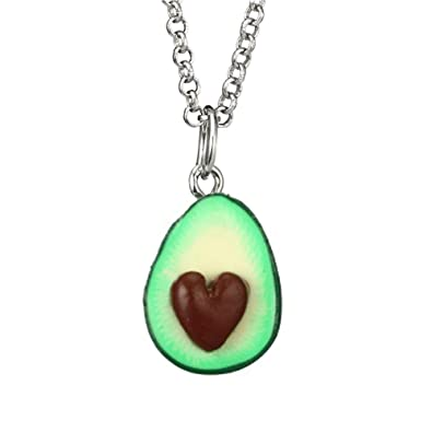 28a010505c Amazon.com: Wintefei Lovely Avocado with Nuclear 3D Clay Alloy Necklace  Decor Couple Neck Chain Gift - 1#: Jewelry