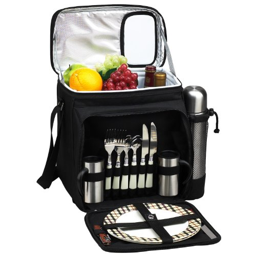 Picnic at Ascot Insulated Picnic Basket/Cooler Fully Equipped for 2  with Coffee Service - ()
