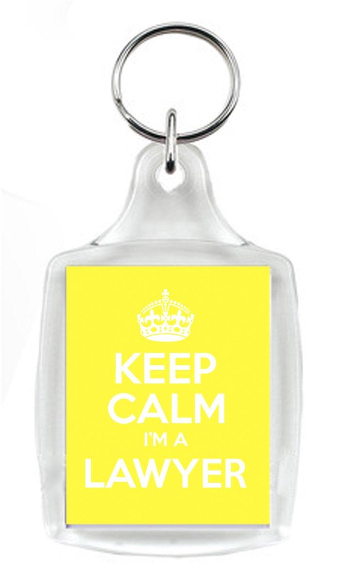 Keep Calm I m un abogado Amarillo Llavero, un regalo único ...