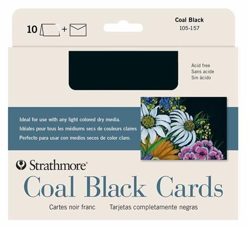 10 Pack Strathmore STR-105-157 Art Again Black Full Cards 5 by 6.875
