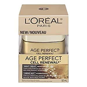 L'Oreal Paris Age Perfect Cell Renewal Night Cream Moisturizer, 50-Milliliter