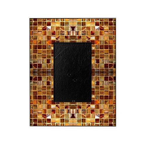 CafePress - Gold Mosaic Tiles - Decorative 8x10 Picture Frame -