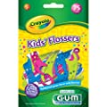 Sunstar 897RZ GUM Crayola Kids' Flosser (Pack of 75)