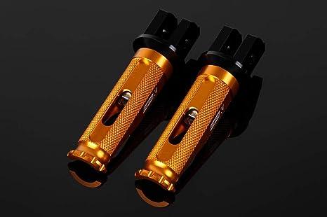 SSK アルミ削り出しステップ レーシングタイプ ライダー用 取付部:ブラック ステップバーカラー:ゴールド AFPR211GD