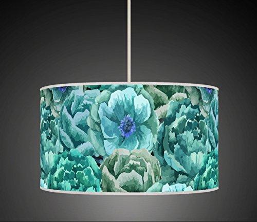 40cm  Teal purple plum Printed Lamp Shade pendant Drum CEILING Light 904