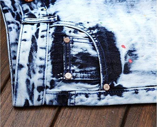 Fori Alla La Colore Sottili Fit Vecchia Di Cher Jeans Uomo In Cotone Ssig Inchiostro Slim Moda Cowboy Patch Da Diritti Blau Denim Hanno PqTfYY