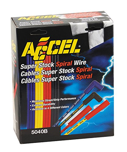 ACCEL 5040B 8mm Super Stock Spiral Universal Wire Set - Blue (Spiral Stock Super)