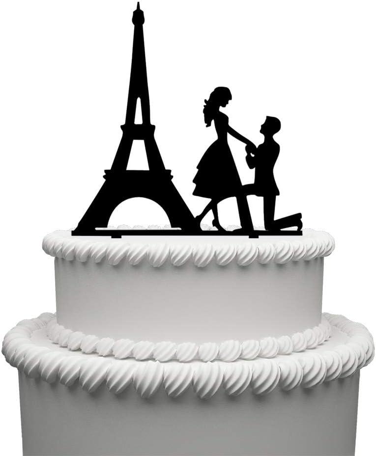 Engagement Man Proposing Celebration Cake Topper Decoration  Acrylic