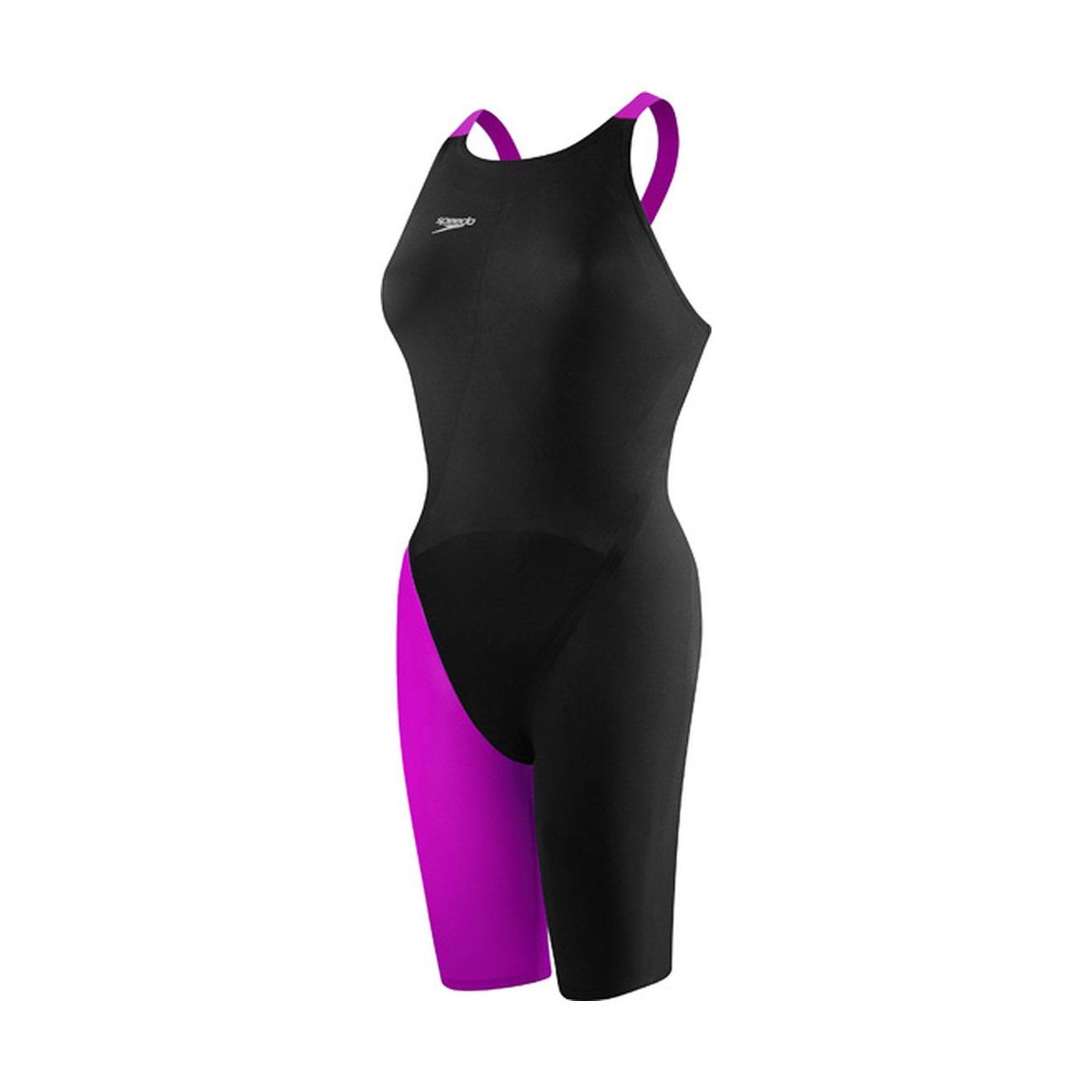 Speedo 7190722レディースLZRエリート2 Closed Back Swimsuit B00OIMGCI0 ブラック/グリーン 29 29|ブラック/グリーン