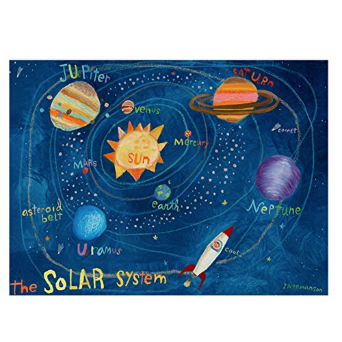 Oopsy Daisy The Solar System Stretched Art, 32 x 42'' by Oopsy Daisy
