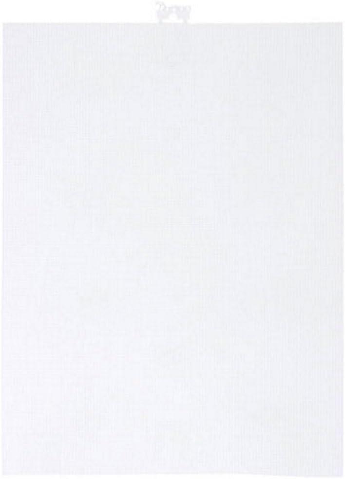 Darice 33275-1 Lona de plástico Perforada, 21.5 x 27.9 cm, Transparente, 1 unidad
