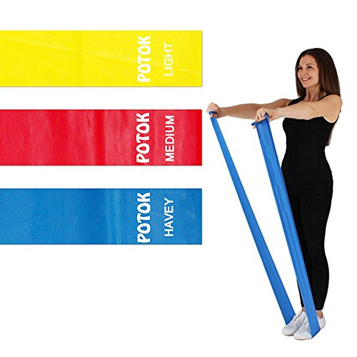 Syliver Resistance Exercise Band Kit- 1.2M – Strength Training & Conditioning – Pilates – Resistance Bands for Mobility Strength & Rehab Premium Quality, 3Pack