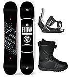 Flow 2018 Gap Men's Complete Snowboard Package Flow Bindings Flow BOA Boots - Board Size 151 (Boot Size 10)