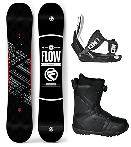 Flow 2019 Gap 151 Men's Complete Snowboard Package Bindings+BOA Boots 4 YR Warranty - Board Size 151