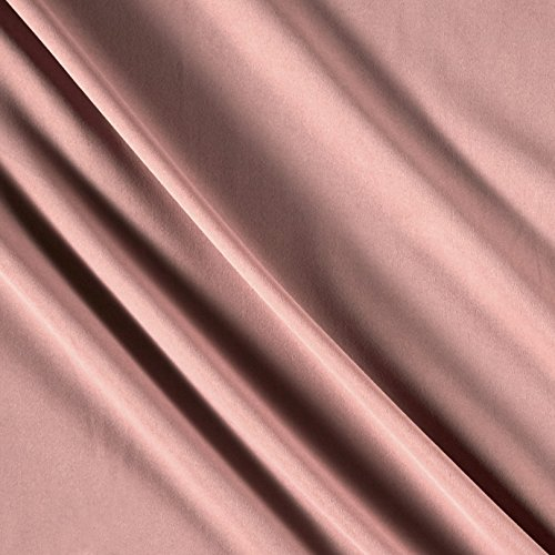 Ben Textiles French Satin Mauve Fabric by The Yard