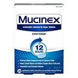 Mucinex Chest Congestion 12 Hour Extended-Release Tablets Expectorant 600 mg, 20 Count