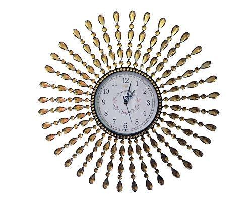 Beautiful Large Wall Clocks Handmade Stylish Wall Clock with Crystals 2959 Sunburst 2 Drop Crystal