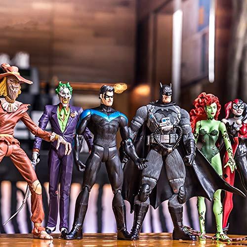 Grocoto Action & Toy Figures - Marvel 18cm Batman Joker Harley Quinn Poison Ivy Scarecrow Nightwing PVC Action Figure Toys 1 PCs