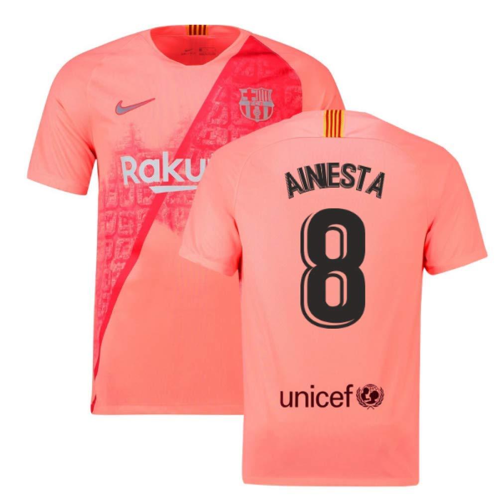 2018-2019 Barcelona Third Nike Football Soccer T-Shirt Trikot (Andres Iniesta 8)