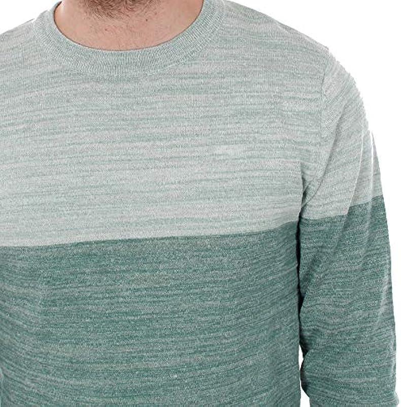 JCOSACRAMENTO Knit Crew Neck męski sweter z dzianiny cienki bawełniany sweter (12151370): Odzież