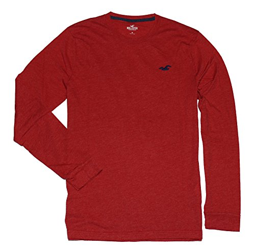 hollister-hco-men-long-sleeve-crew-neck-logo-tee-l-red