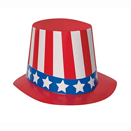 33ef916e90f Image Unavailable. Image not available for. Color  4th of July Patriotic  Uncle Sam Hat