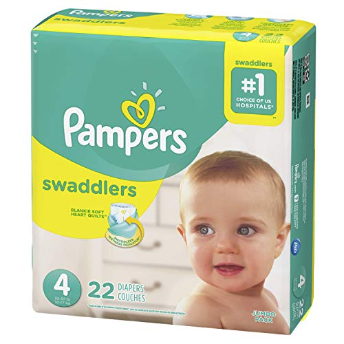 Diapers Size 4, 22 Count - Pampers Swaddlers Disposable Baby Diapers, Jumbo ()