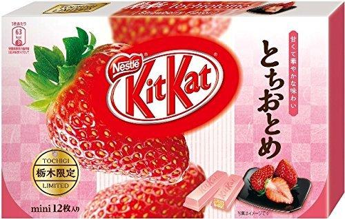 Japanese Kit Kat - Tochiotome Strawberry Chocolate Box 5.2oz (12 Mini Bar)