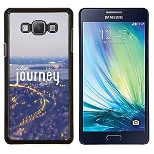 YiPhone /// Prima de resorte delgada de la cubierta del caso de Shell Armor - Viaje Niebla Azul Luces de la ciudad Viajar - Samsung Galaxy A7 A7000