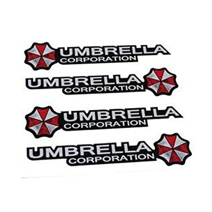 Aulyn car door handle stickers car decals 3d true color biohazard umbrella