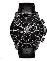 Mens Quartz Stainless Steel Casual Watch, Color:Black (Model: T1064173605100)