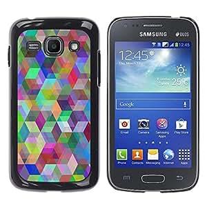 EJOY---Cubierta de la caja de protección la piel dura para el / Samsung Galaxy Ace 3 / --Patrón Geometría del arco iris