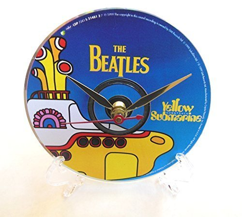 The Beatles Desktop Clock - Handmade with the original Beatles CD: Yellow Submarine