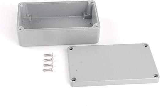 Caja estanca de aluminio fundido a presión Caja de conexiones de plástico resistente al agua IP66 Caja de caja de instrumentos electrónicos Caja - Blanco - 135 * 85 * 56 mm: Amazon.es: Iluminación