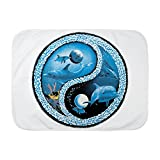 Royal Lion Baby Blanket White Dolphin Fish Ocean Yin Yang Symbol